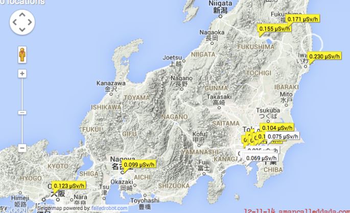 Stormageddon Radiation Readings For Northern CA And Well A - Japan radiation map 2014