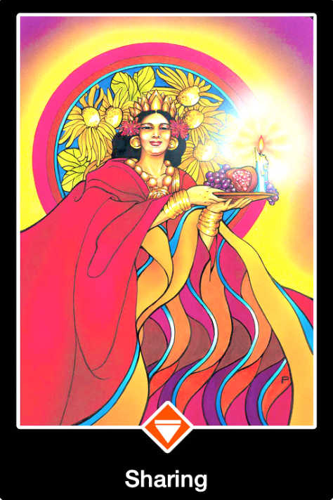 Sharing, from the Osho Zen Tarot Card deck, by Osho